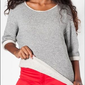 American Apparel Reversible Gray Sweater One-Size